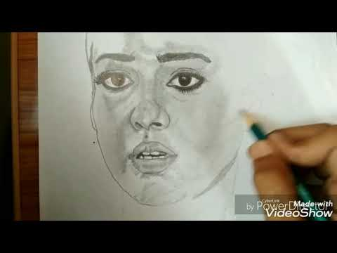 How To Make Nayanthara Drawing in Tamil - YouTube