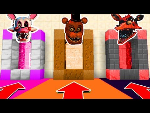 Minecraft PE : DO NOT CHOOSE THE WRONG SECRET BASE! (Five Nights at Freddy's 2) thumbnail