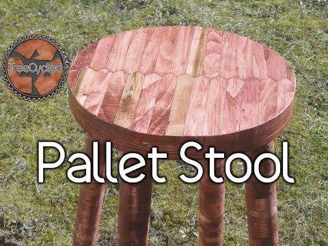 Stool Built From 100% Pallet Lumber.