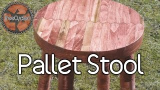 Stool Built From 100% Pallet Lumber.