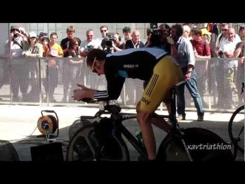 Bradley Wiggins warm-up (Arc-et-senans-Besançon), Tour de France 9/07/2012)