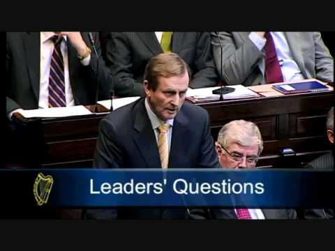 Joe Higgins TD questions Enda Kenny on the Moriarty Report during Leaders' Questions (29-03-11)