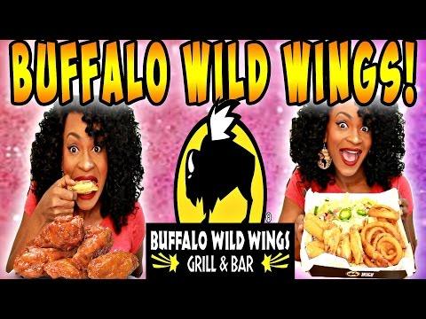 MUKBANG: BUFFALO WILD WINGS! NACHOS,CHEESE STICKS, & ONION RINGS! EAT WITH ME! YUMMYBITESTV