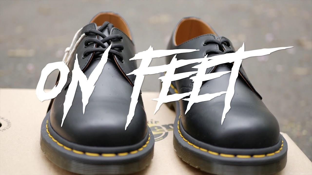 Dr Martens 1461 Black smooth on feet/на