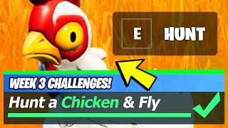 Hunt a Chicken, Chicken LOCATIONS & Fly 20 meters with a Chicken - Fortnite