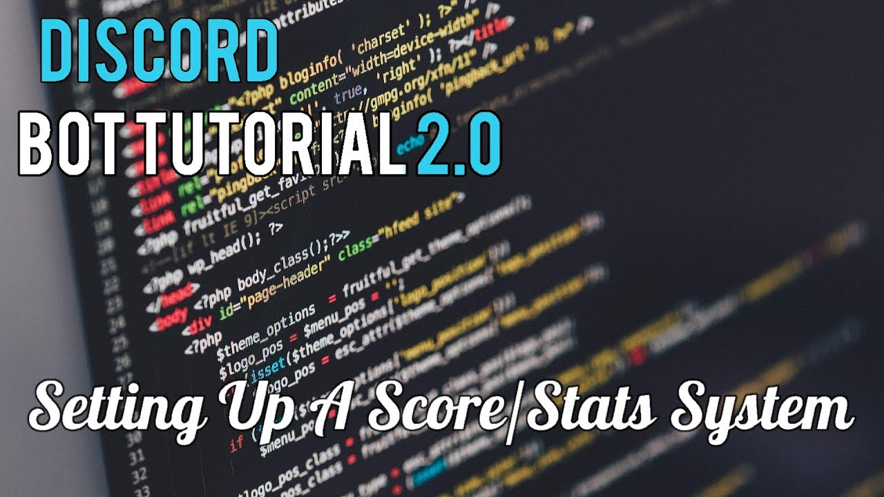 Discord Bot Tutorial 2 0 | Setting Up A Score/Stats System [10]