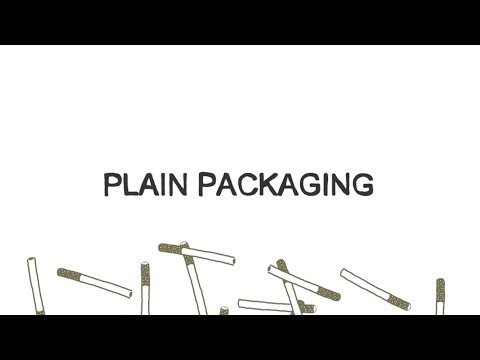 Plain packaging for tobacco