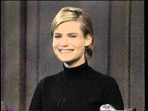 Jennifer Jason Leigh on Late Show (1995)