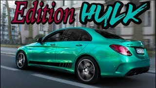 Silversurfer war gestern .. jetzt kommt HULK !!! Mercedes C43 AMG  | Folienprinz