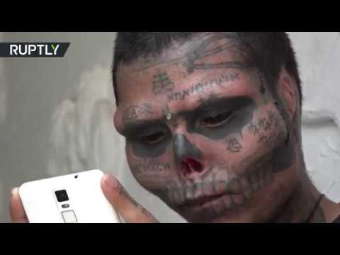 Meet Kalaca Skull: Colombian tattoo artist cuts off nose and ears to resemble skull