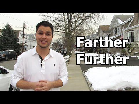FARTHER vs. FURTHER - SIGNIFICADO E PRONUNCIA - AULA DE INGLES