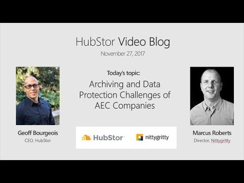 Archiving and Data Protection Challenges of AEC Companies with Marcus Roberts, Nittygritty