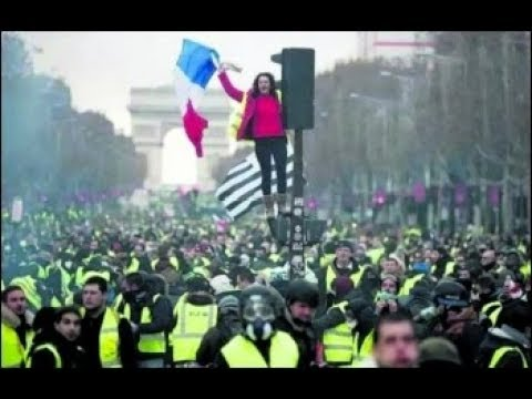 Massive General Strike In France Supported By Yellow Vest Movement | Dramatic Scenes From Paris