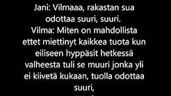 Jani&Vilma - Mitä onni on?|Lyrics|