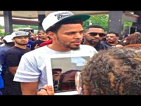 J.Cole visit's Ferguson Missouri Protest | Michael Mike Brown St. Louis [TRIBUTE BE FREE]
