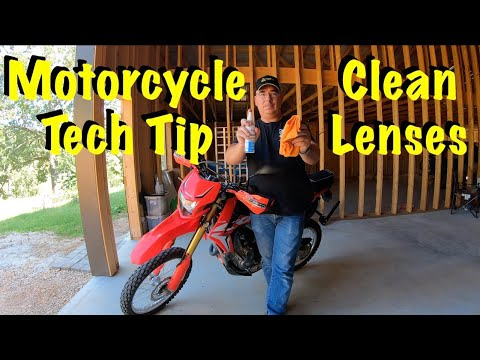 Motorcycle Tech Tip ~  Clean all Lenses !