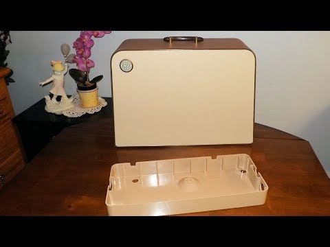 A Restored Vintage Singer Sewing Machine Carrying Case