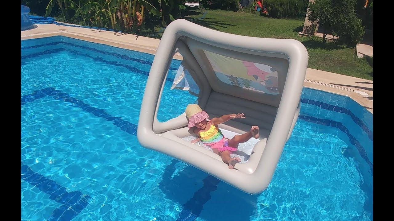 Havuzda oyun evi balina deniz aslanı ve kaplan hayvanlar alemi , eğlenceli çocuk videosu