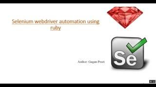 How To Create First Script in Selenium using Ruby Programming Language