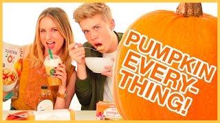 Weird Pumpkin Flavored Foods?! Taste Test W/ Aidan Alexander & Caroline Tucker