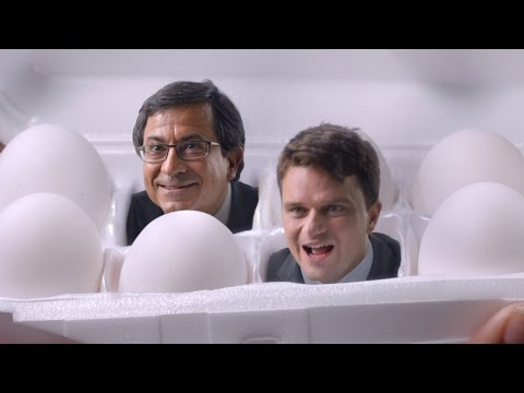 Pete and Gerry's Organic Eggs TV commercial about factory farm egg disclaimers