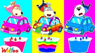 🔴 LIVE: Painting Rainbow Colors for Wolfoo's Car | Wolfoo Family Kids Cartoon