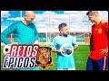 EPICOS RETOS DE FUTBOL VS LA SELECCION ESPAÑOLA ft. Morata x Kepa x Koke x Pau Lopez.
