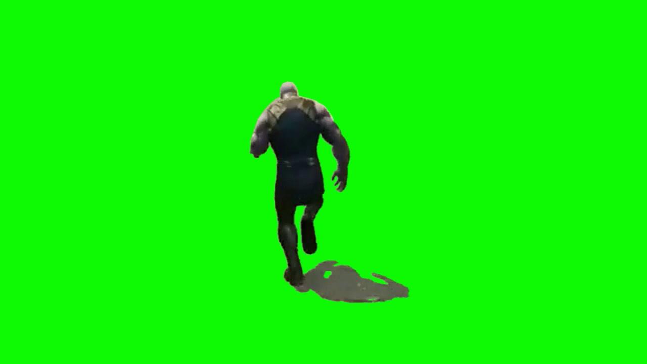 Thanos has a big butt green screen dancing