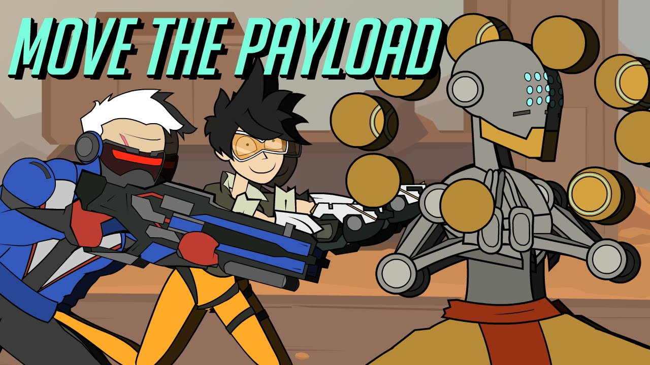 move the payload an overwatch cartoon youtube