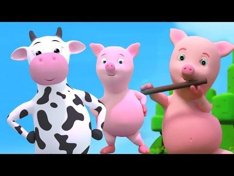 Cinco cerditos | canción de cuna | niños de canciones | Five Little Piggies Jumping On Bed Rhyme