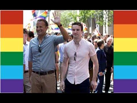 Openly Gay Irish PM Leo Varadkar Marches In MTL Pride Along w/ His Partner Dr. Matthew Barrett