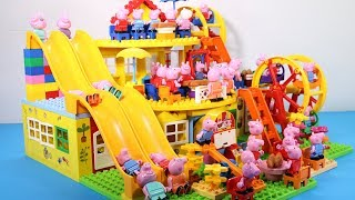 Peppa Pig Lego House Toys For Kids - Lego House With Water Slide Creations Toys #7