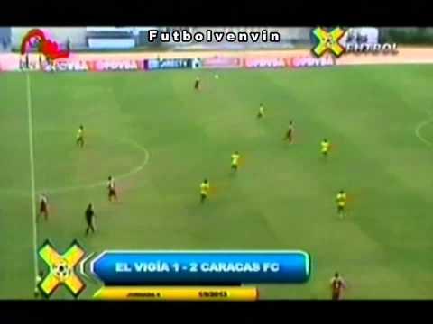 Atletico El Vigia FC - Caracas FC. Torneo Apertura 2013. Jornada Nº 4