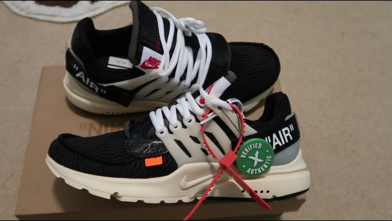 Nike Air Presto Off-White Sneaker Unboxing - YouTube 32be7ff72