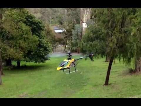 V912 RC Helicopter Backyard test flight. Fast and responsive. Love it.