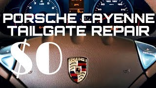 Tailgate not opening on 957 Porsche Cayenne - how to fix