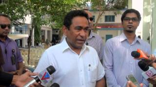 Repeat youtube video President Yameen casts his vote in parliamentary polls