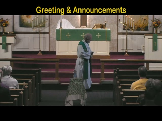 St  Trinity Ev  Lutheran Church Sunday Service October 17, 2021