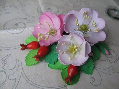 Как сделать цветы из фоамирана  инструкция 4