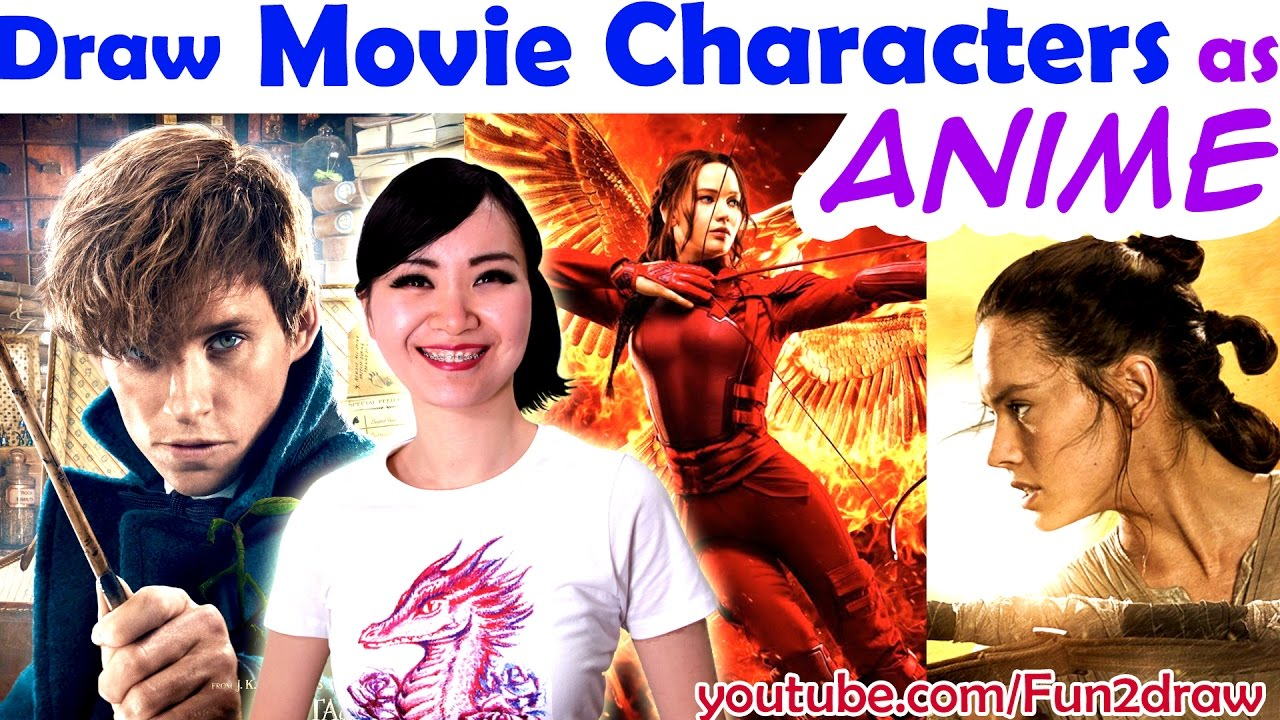 draw movie characters in famous anime styles art challenge mei