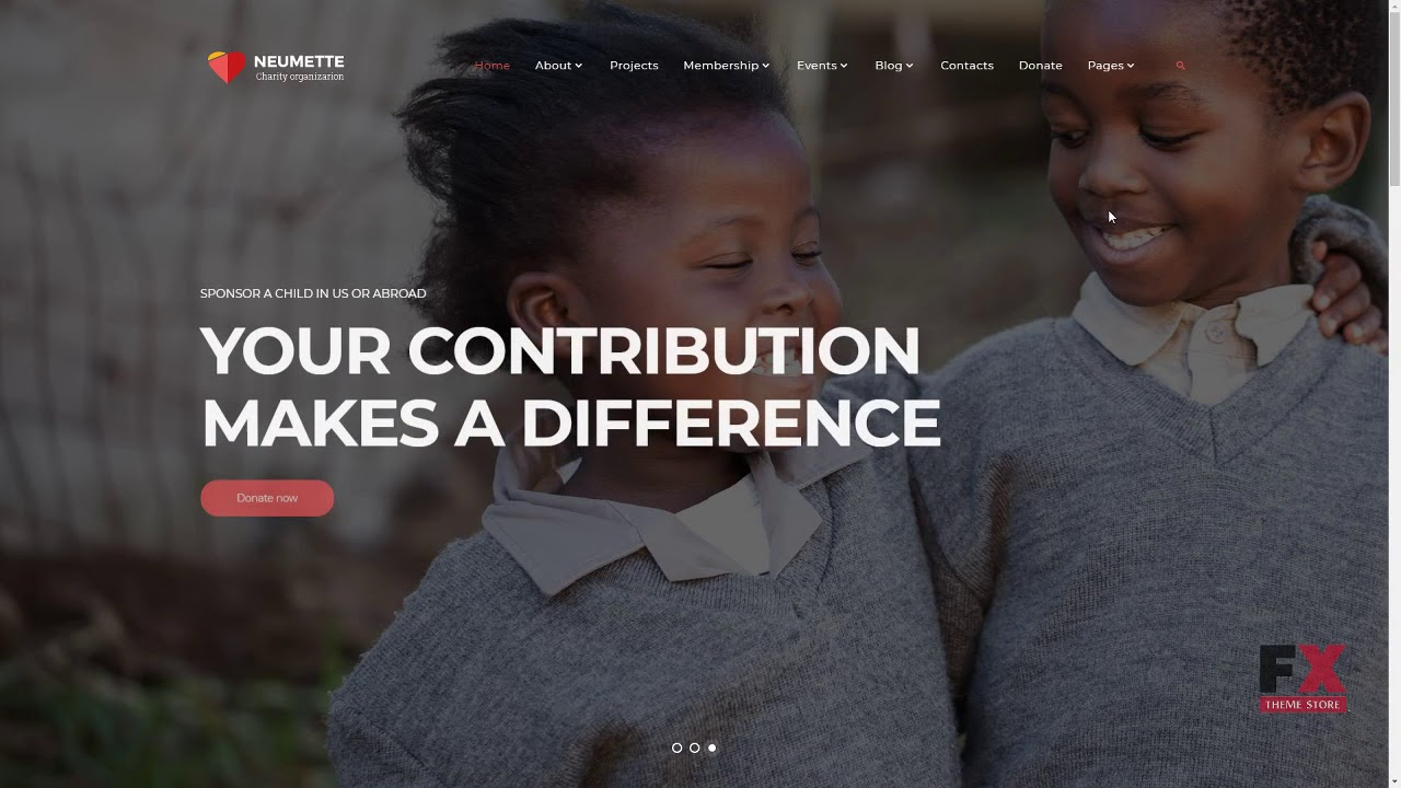 Neumette - Charity Organization HTML5 Website Template TMT | Free ...