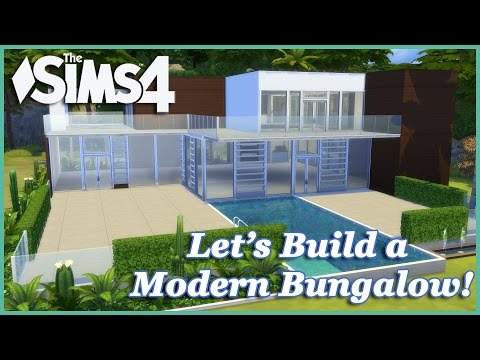 The Sims 4 - Let's Build A Modern Summer Bungalow (Part 1) Realtime
