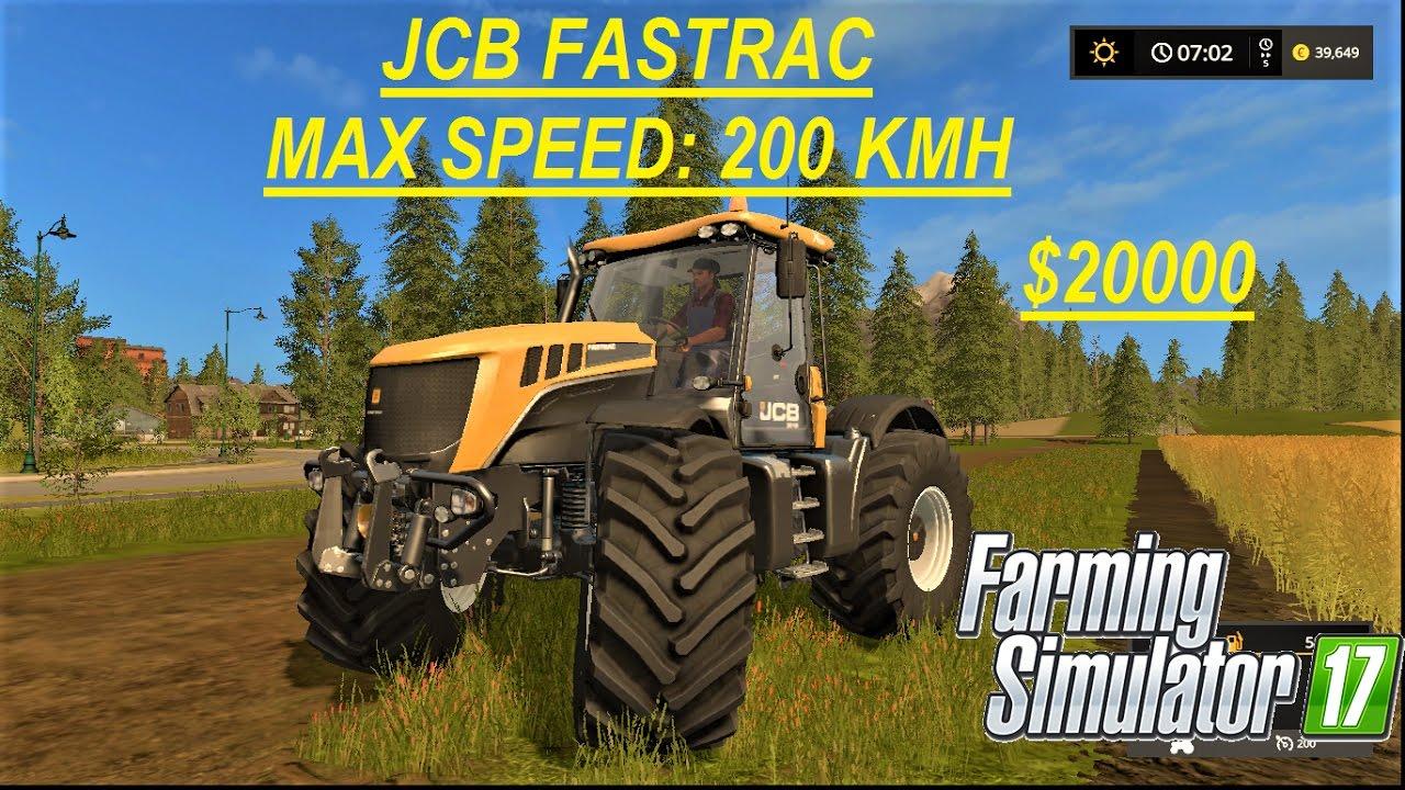Fastest Tractor Farming : Farming simulator very fast tractor jcb fastrac kmh