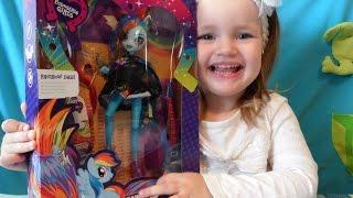 МАЙ ЛИТЛ ПОНИ Кукла Рейнбоу Дэш из  МЛП  Rainbow Dash Rockin' Hairstyle Doll EG My Little Pony