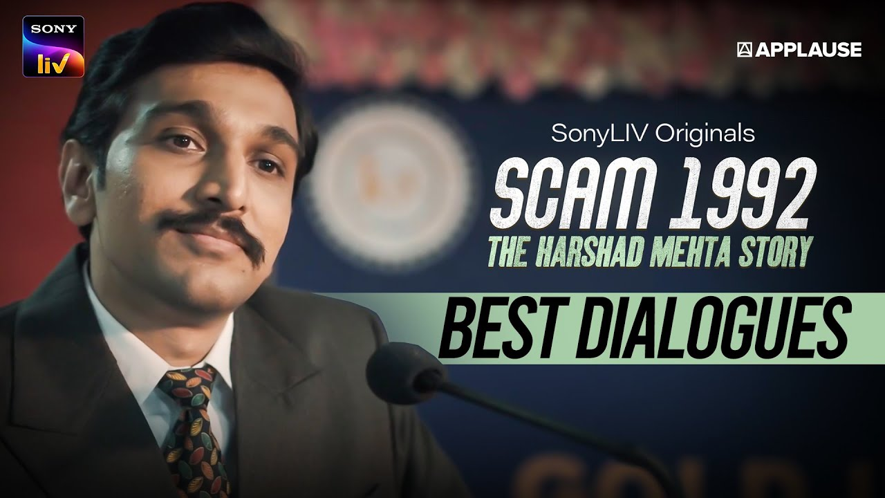 Download Best Dialogues of Scam 1992   SonyLIV   Hansal Mehta   Pratik Gandhi   Applause