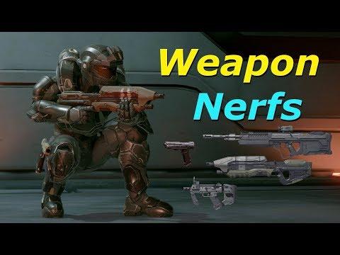 Halo 5 | Nerfed AR, SMG, Gunfighter Magnum & DMR (Weapon Tuning/Analysis)