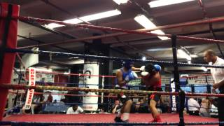 Mathew Castro Amateur Boxer In The 2014 New York Boxing Tournament From Universal Boxing Gym.