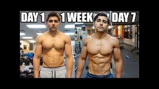 CAPTAIN AMERICA MUSCLE GAIN BODY TRANSFORMATION WITH FREELETICS GYM