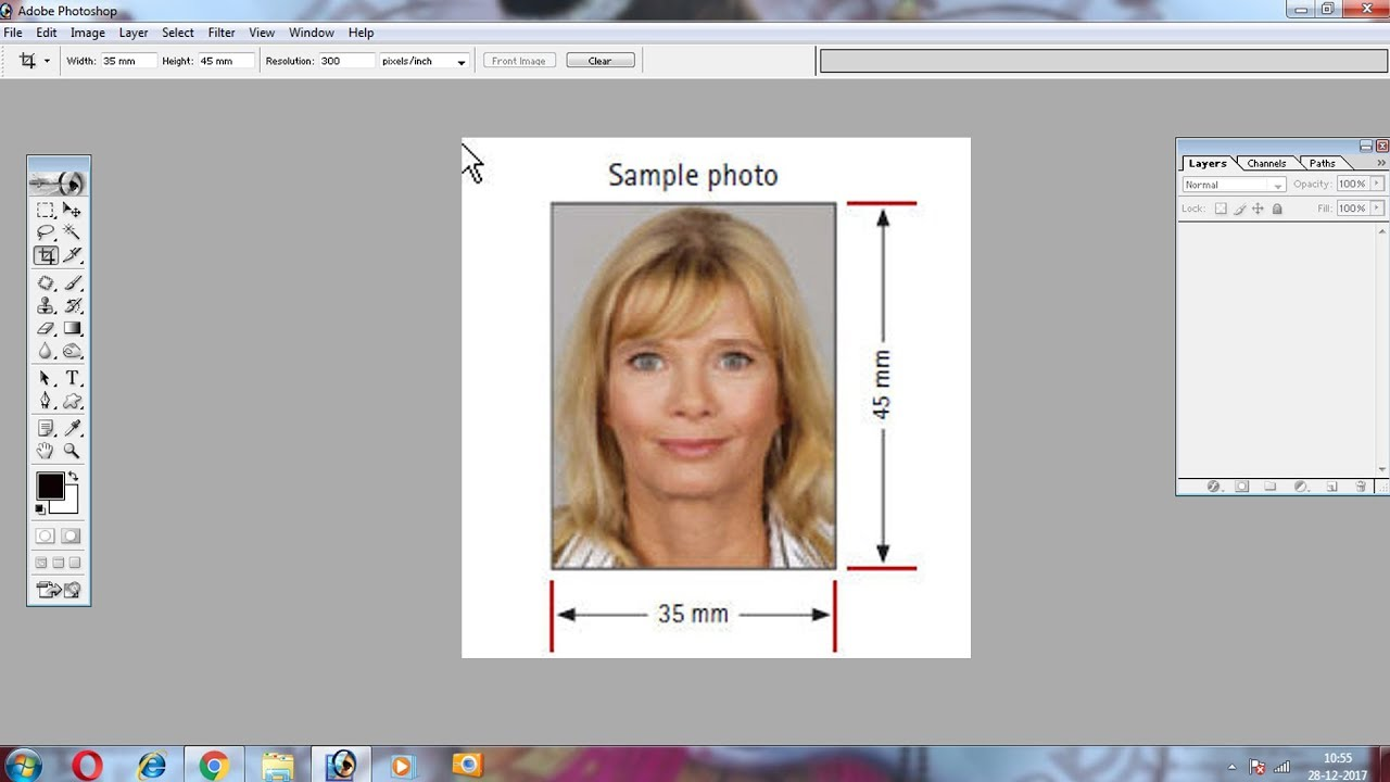 How To Make Passport Photo In Photoshop 7 Size 35cm X 45 Cm