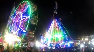 Wahana Bianglala dan Kora-kora  Pasar Malam Sekaten Jogja